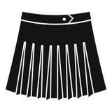 Tennis female skirt icon, simple style Royalty Free Stock Photo