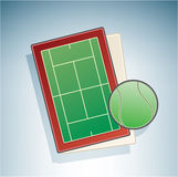 Tennis Field Royalty Free Stock Photo