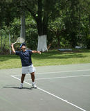 Tennis field. Man playing tennis Stock Image