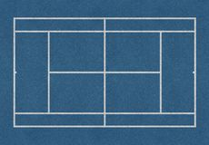 Tennis field blue. Tennis field. Tennis blue court. Top view. Isolated Stock Photos