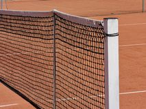 Tennis field net detail. Close up royalty free stock image