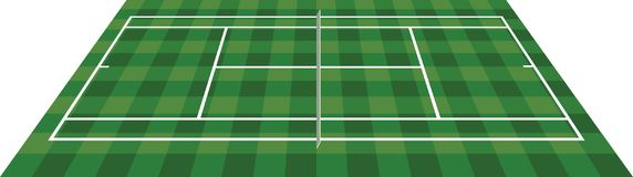 Tennis field perspective view. Vector Stock Image