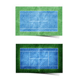 tennis field recycled paper Royalty Free Stock Images