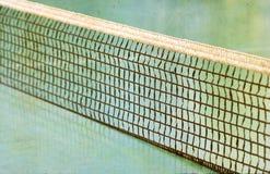 Tennis field and a tennis net. Stock Photo