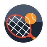 Tennis flat illustration royalty free illustration
