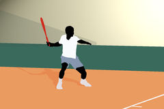Tennis Forehand. Illustration of forehand in tennis Royalty Free Illustration