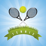 Tennis frame Stock Photo