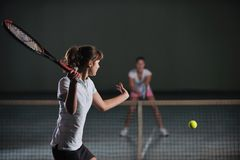 Tennis game Royalty Free Stock Image