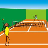 Tennis game Royalty Free Stock Photography