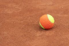 Tennis game background. Training tennis ball on the tennis court. Tennis game background. Tennis ball on the tennis court stock photo