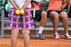 Tennis. Between games Royalty Free Stock Images