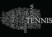 Tennis Gear Text Background Word Cloud Concept Royalty Free Stock Photography
