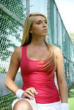 Tennis girl Royalty Free Stock Photos