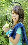 Tennis girl stock photography