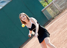 Tennis girl. Royalty Free Stock Photos