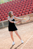 Tennis girl. Royalty Free Stock Image