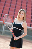 Tennis girl. Royalty Free Stock Photo