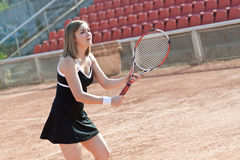 Tennis girl. Royalty Free Stock Images