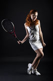 Tennis girl Stock Photo