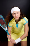 Tennis girl Stock Image