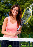 Tennis girl Stock Images