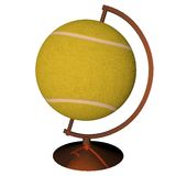 Tennis globe. Isolated over white background, 3d render, square image Stock Image