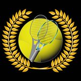 Tennis and golden wreath Royalty Free Stock Photo