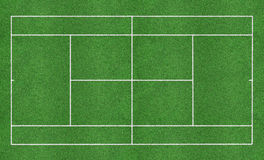 Tennis grass court Royalty Free Stock Photo