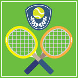 TENNIS ON GRASS COURT Stock Images