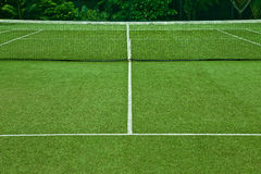 Tennis grass court good for background Stock Image