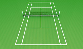 Tennis green camp Royalty Free Stock Images