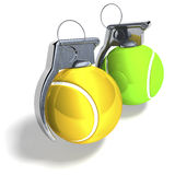 Tennis grenades Royalty Free Stock Image