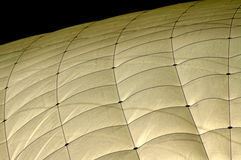 Tennis hall roof. Closeup of a full blown tennis hall at night Royalty Free Stock Images
