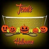 Tennis and Halloween Royalty Free Stock Photos