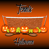 Tennis and Halloween Royalty Free Stock Image