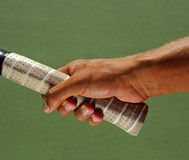 Tennis Hand Grips Racket Royalty Free Stock Photography