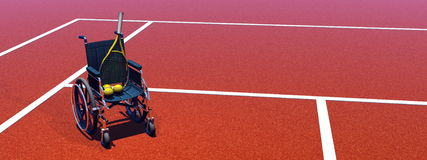 Tennis for handicapped - 3D render Royalty Free Stock Photos