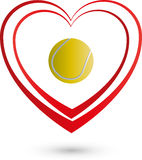 Tennis heart, sports, logo. Tennis and heart, sports logo Stock Image