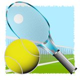 Tennis on herb Stock Images