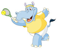 Tennis hippo Royalty Free Stock Photography