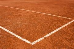 Tennis, hof, lijnen Royalty-vrije Stock Foto