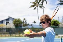 Tennis i tropikernan Arkivbilder