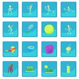 Tennis icon blue app Stock Image