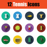 Tennis icon set Stock Photography