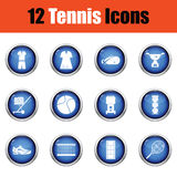 Tennis icon set. Stock Photography