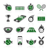 Tennis icon set Royalty Free Stock Image