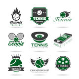 Tennis icon set 2. Tennis-related quality set of icons that can be used in studies Stock Photography