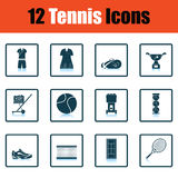 Tennis icon set Royalty Free Stock Images