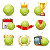 Tennis icon set Royalty Free Stock Photography