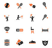 Tennis icon set Royalty Free Stock Photography